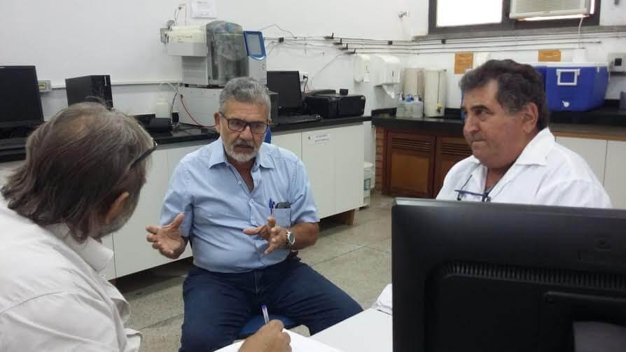 Marcio Meca junto com o coordenador operacional do PMSB Rubem Mauro.