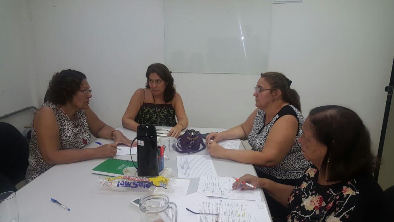 As professoras Eliana Rondon e Josita Priant representaram o o PMSB 106. Leonice Lotufo e Lenis Falcão são da gerencia de Fomento e Apoio a Comitês de Bacia Hidrográfica da Sema.
