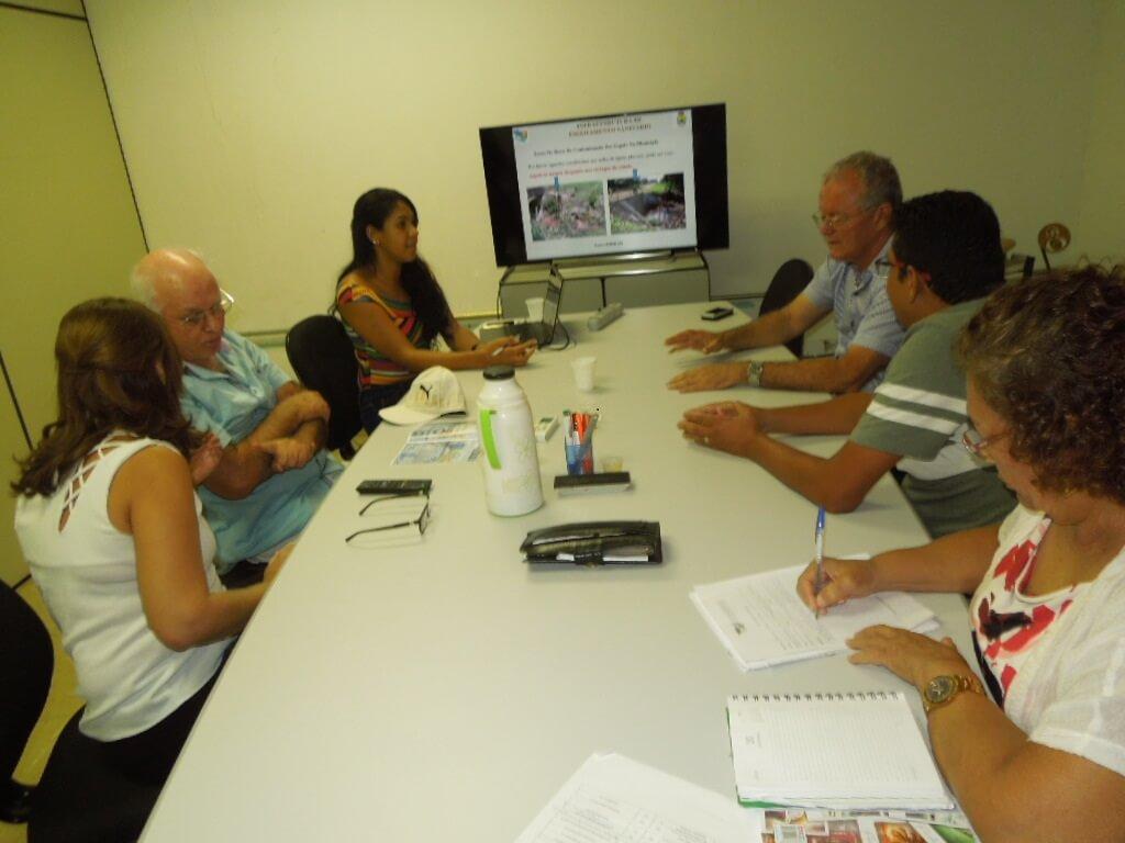 O prefeito de Nova Olímpia e o secretário de Administração reuniram-se no EIT