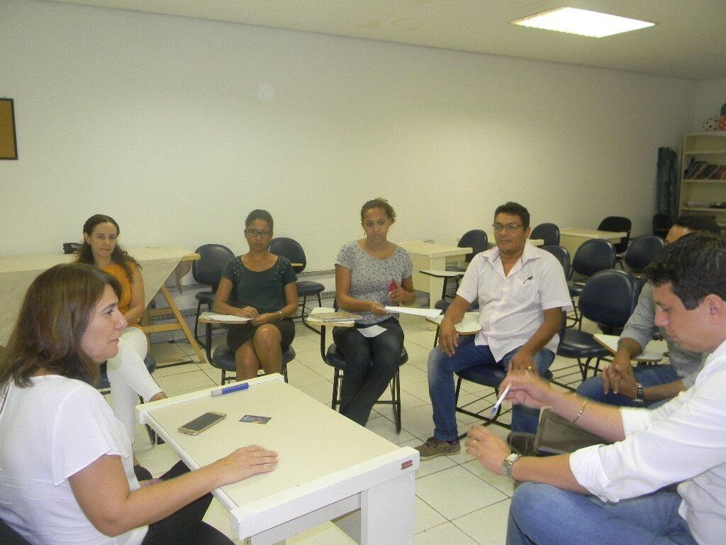 Eduardo Capistrano e a equipe do PMSB.