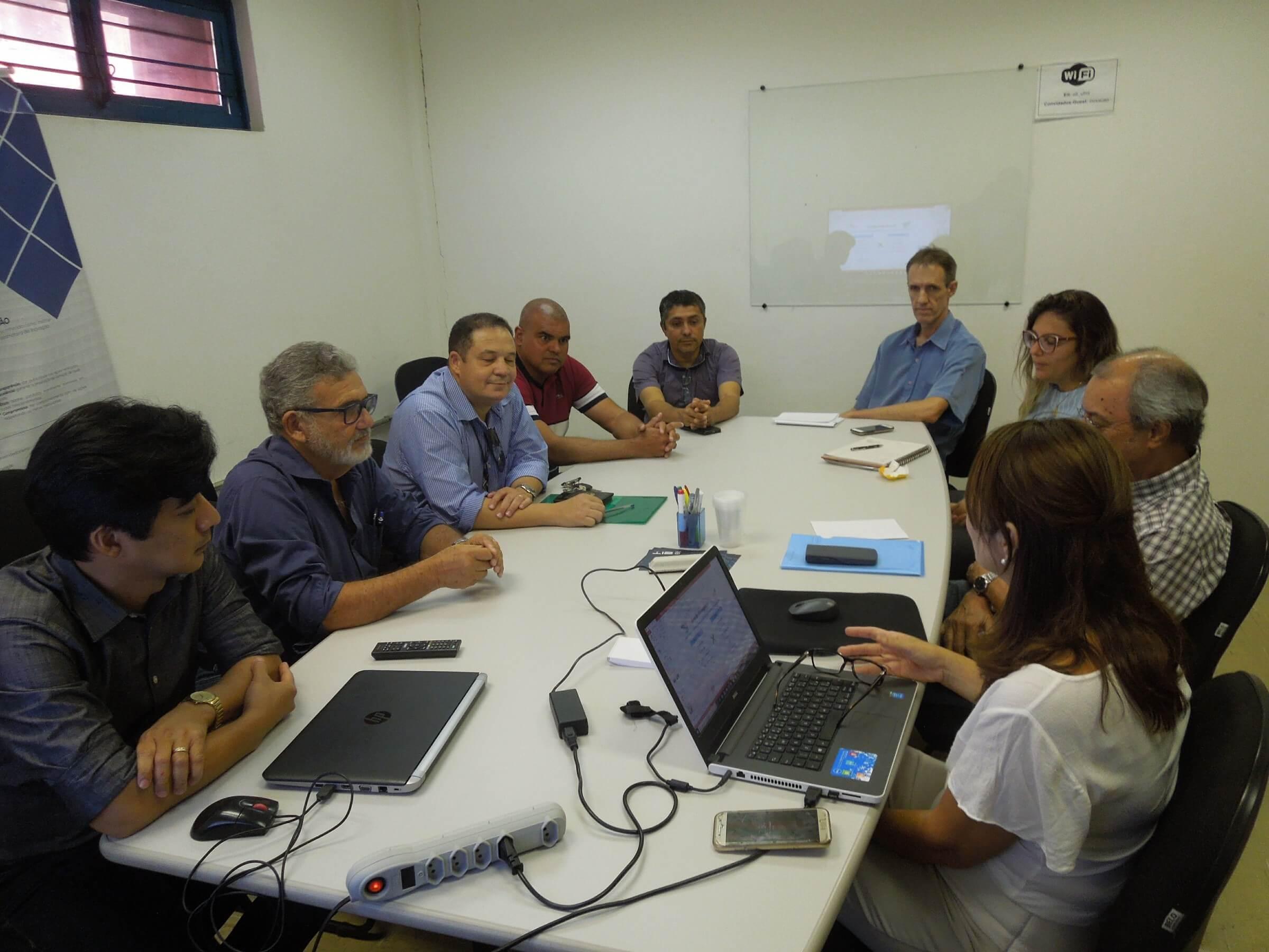 A equipe de Coordenadores do PMSB mostrou aos auditores os procedimentos para chegar aos resultados